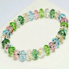 Faceted Loose beads Bracelet Stretch Bangle Girl's Jewelry Gift Popular tops