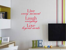 Live laugh love wall quote decal   wall quote sticker