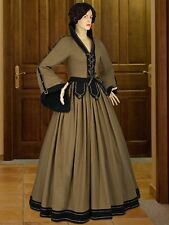 Medieval Dress Renaissance Countess Gown Natural Cotton for Maiden Clothing