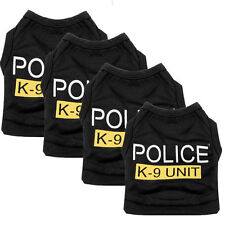 Dog Cat Vest Police Puppy T-Shirt Coat Pet Clothes Summer Apparel Costumes top