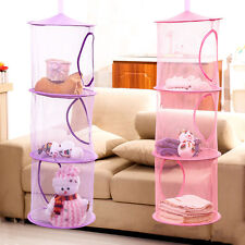 3 Shelf Hanging Storage Net Kids Toy Organizer Bag Bedroom Wall DoorS Closet