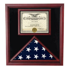 Flag and Certificate Case,Flag Display Cases With Certificate Hand Made