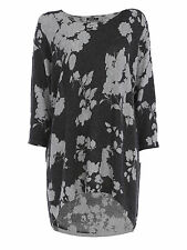 Roman Originals Womens Ladies Floral Knit Tunic Top Blouse Round Neck 3/4 Sleeve
