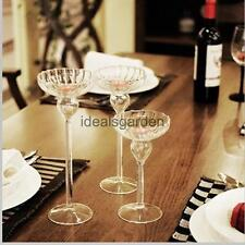 Glass Votive Candle Holder Candlestick Tealight Wedding Party Dinner Table Decor