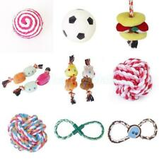Pet Dog Doggie Training Rope Ball Fetch Game Chew Squeeze Play Toy Teeth Clean