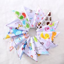 Baby Boys Girls Infant Cotton Bandana Bibs Feeding Saliva Towel Dribble Triangle