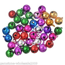 Wholesale W09  Mixed Color Christmas Bells Charm Pendant 14x10mm