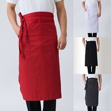 Chef Apron Canteen Restaurant Waiter Server Cooking Work Waist Apron With Pocket