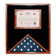 Flag Display Cases with Certificate Holder Hand Made