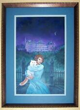 Death Under the Crescent Moon Bookcover Original by Dell Harris Acrylic Painting