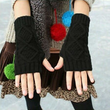 New  Ladies Winter Wrist Arm Hand Warmer Knitted Long Fingerless Gloves Mitten