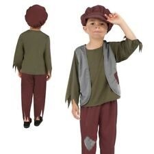 Victorian Poor Boy Costume Kids Book Week Fancy Dress Outfit Ages 4-12