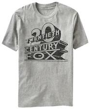 Fox - Vintage Twentieth FOX Logo T-Shirt Grey Shirt Tee New