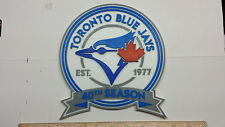 "Toronto Blue Jays ""40th Season"" 3D Baseball Logo - Emblem, Ornament or Magnet !!"