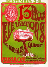 13th Floor Elevators - Sir Douglas Quintet 1966 Avalon Ballroom - Concert Poster