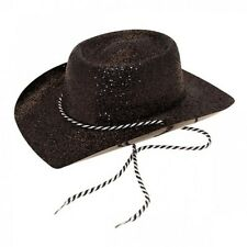 Glitter Cowboy Hat for Photo Booth Party Fancy Dress Accessory