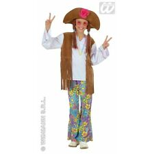 Girls Woodstock Hippie Girl Costume Outfit for 60s 70s Fancy Dress