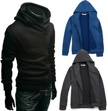 Mens Boys Fashion Slim Fit Top Designed Zip Hoodies Jackets Coats