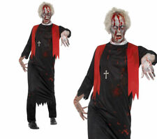 Zombie High Priest Costume Mens Minister Halloween Fancy Dress Costume