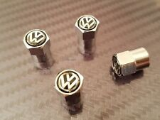 VW Volkswagon CHROME DUST CAPS TYRE VALVE Golf Passat Polo Scirocco GTI Beetle