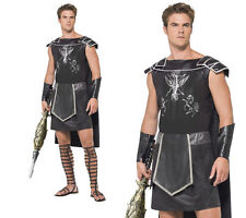 Gladiator Mens Fancy Dress Costume Roman Warrior Outfit Sizes M,L