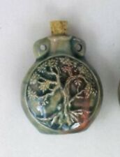 Raku Ceramic Pottery Bottle-Necklace, Tree of Life, Choice of Lot Size & Price