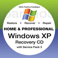 #1 WINDOWS XP Recovery Disc - Install Reinstall Restore CD DVD Disk - ALL IN ONE
