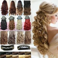 Real Thick Hair Piece Clip in Hair Extensions Extentions for as human hair T85