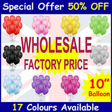 "50 x10"" Latex Baloon Party Balloons Helium 10 Colours Wedding birthday balons"