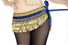 Velvet Belly Dance Hip Scarf Belt gold coins 6 Colors Belly Dance Costume 4/5