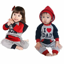 Toddler Newborn Romper Girls Boys Love MOM/DAD Clothes Bodysuit New Jumpersuit