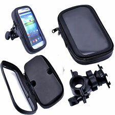 Bike Bicycle Motorcycle Waterproof Phone Case bag with Handlebar Mount Holder H