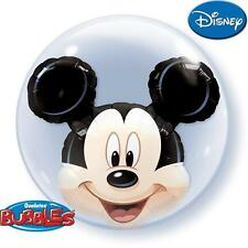 "24"" QUALATEX DOUBLE BUBBLES MICKEY MOUSE CLUB HOUSE PARTY GIFT BALLOON"