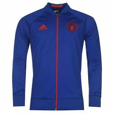 *ADIDAS - MANCHESTER UNITED ANTHEM JACKET BLUE = SIZE ALL ADULTS