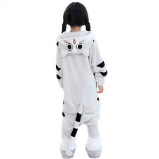 kids Pajamas Cheest cat Kigurumi Unisex Cosplay Animal Costume Onesie sleepwear+