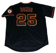 BARRY BONDS San Francisco Giants 2002 Majestic Throwback Alternate Away Jersey