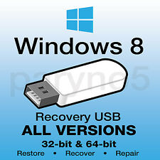 *#1 WINDOWS 8 Recovery USB Install Reinstall Restore USB Flash Drive ALL IN ONE