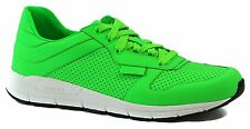 GUCCI 369088 Men's Lace Up Running Sneakers Neon Green G7.5 US8.5
