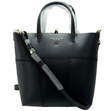 TORY BURCH Block-T Small Leather Tote with Shoulder Strap