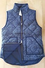 NWT J.Crew Excursion Quilted Puffer Vest Navy XS 100% Authentic!