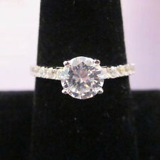 925 STERLING SILVER Solitaire Accented Band Ring Size 5, 6, 7, 8