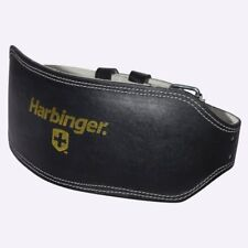 "New Harbinger Men's 6"" Padded Leather Lifting Belt from The WOD Life"