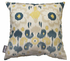 NEW RIO IKAT BLUE MAIZE YELLOW COTTON DUCK CUSHION COVER BED SOFA THROW PILLOW