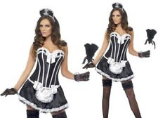 Sexy French Maid Ladies Fancy Dress Costume Hen Night Outfit Sizes 8-18
