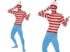 Wheres Wally? Lycra Bodysuit Mens Ladoes Book Week Fancy Dress M,L