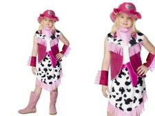 Child Pink Cowgirl Rodeo Wild West Girls Fancy Dress Oufit With Hat