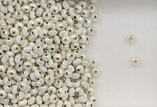 925 Sterling Silver 5mm Corrugated Rondelle Spacer Beads, Choice Lot Size