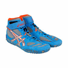 Asics Aggressor 2 Mens Blue Synthetic Athletic Lace Up Training Shoes