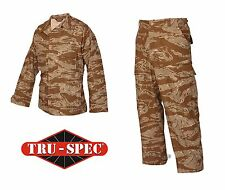 Desert Tiger Stripe Shirt Pants BDU Uniform Set Tru-Spec 100% Cotton Ripstop