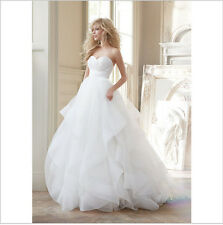 Sweetheart Organza Wedding dress A-line Bridal Wedding Gowns Custom Wedding Size